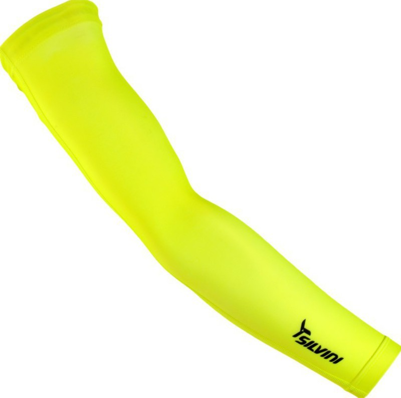 Cyklistické návleky na ruce Silvini ALPE UA1029 neon