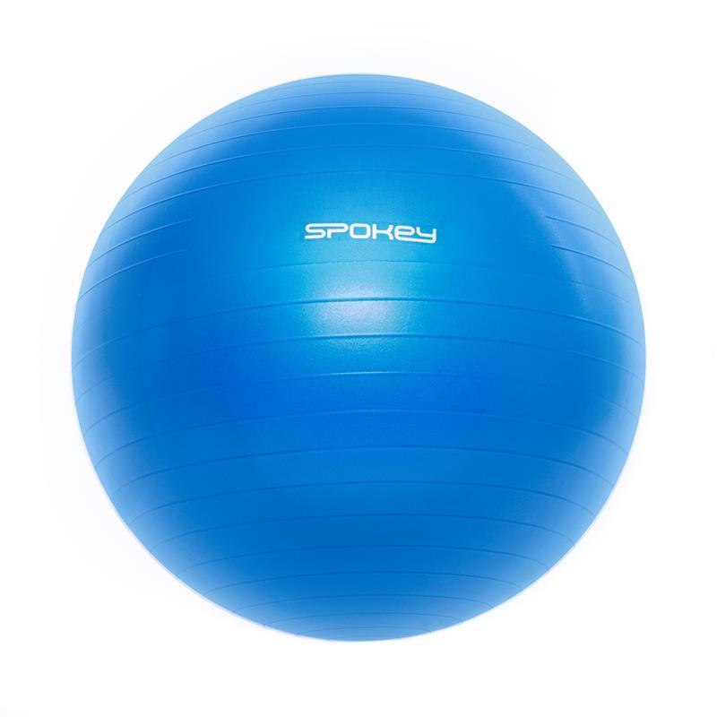 Gymnastický míč Spokey FITBALL III 75 cm včetně pumpičky, modrý