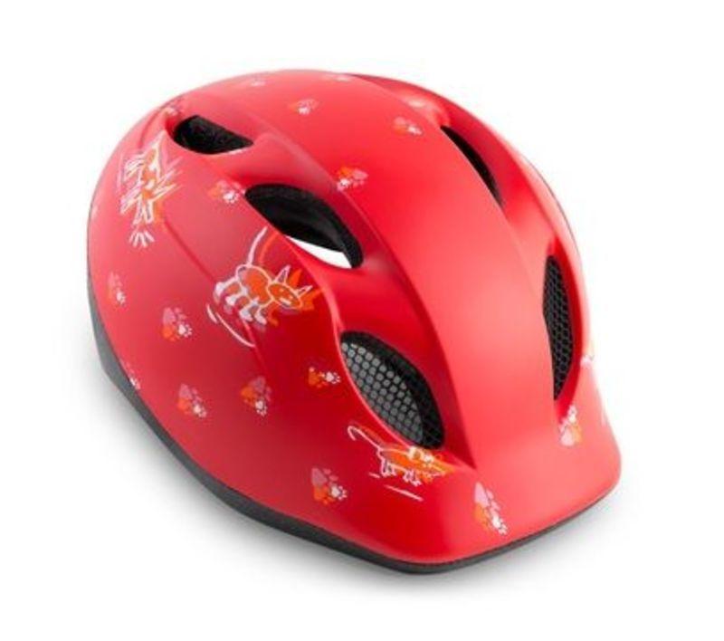 MET helma SUPER BUDDY 2019 dětská zvířatka/červená