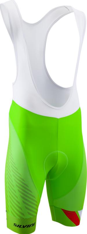 Pánské cyklistické kalhoty Silvini Team Top MP1406 green-red