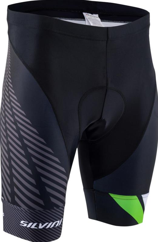 Pánské cyklistické šortky Silvini Team MP1407 black-green
