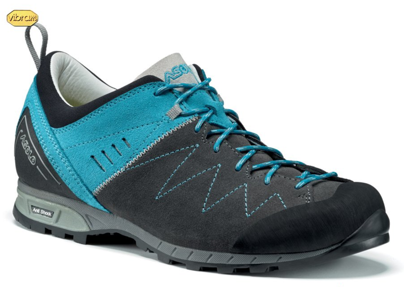Boty ASOLO Track ML graphite/cyan blue/A873 7 UK