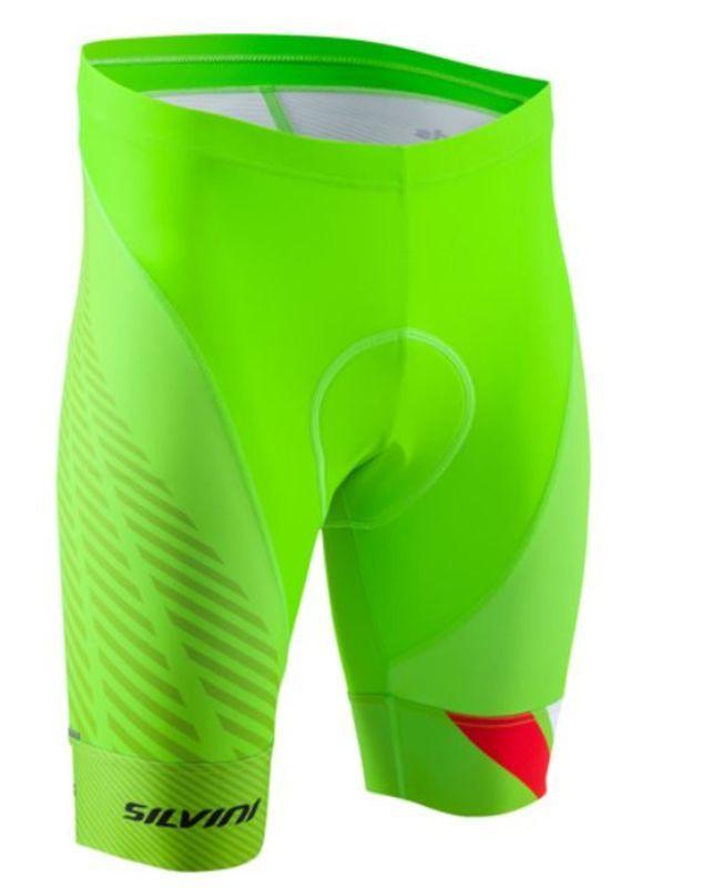Pánské cyklistické šortky Silvini Team MP1407 green
