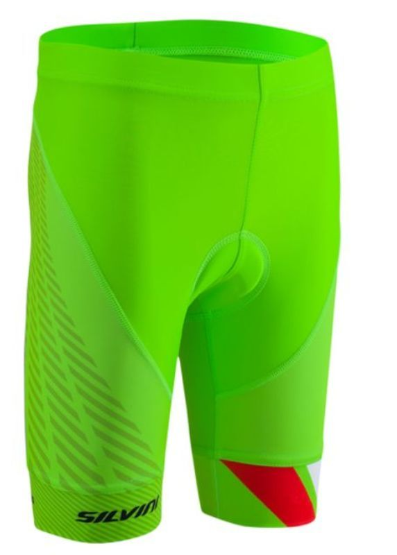 Dětské cyklistické kalhoty Silvini Team CP1436 green