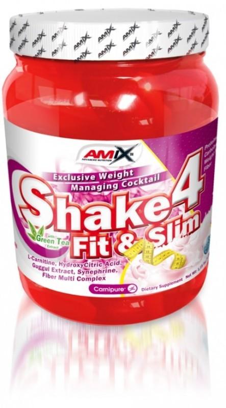Redukce hmotnosti Amix Shake 4 Fit&Slim pwd. - Jahoda