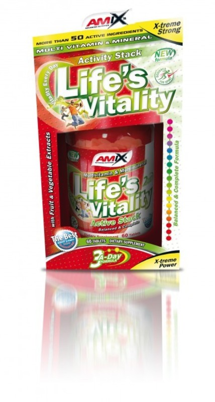 Amix Life's Vitality Active Stack 60 tablet BOX