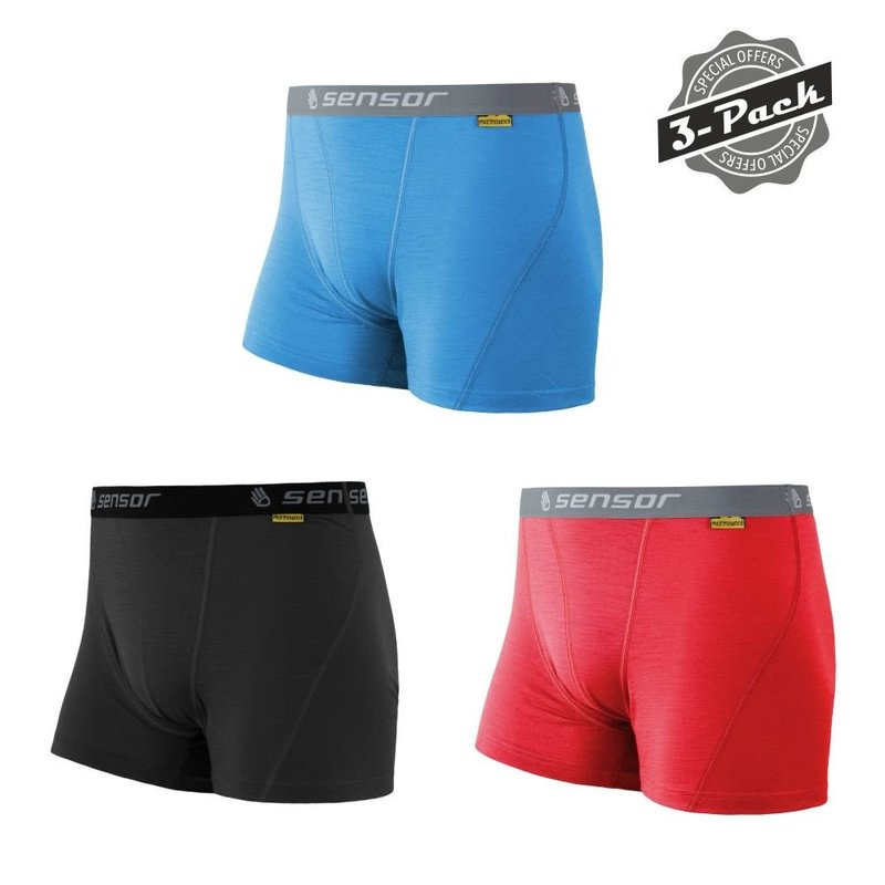 Levně Set Boxerek Sensor Merino Wool Active 3-pack 16100076 L