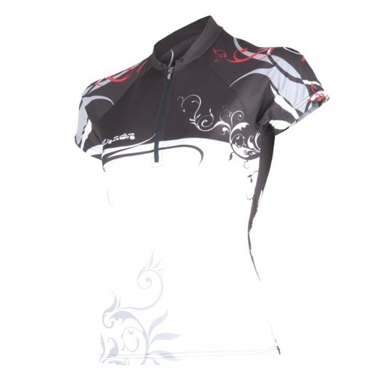 Dámský cyklodres Sensor Flowers Evo bílá/černá 13000047