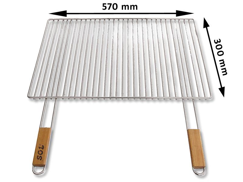 Grilovací rošt SOL krbový 5x57x30 cm
