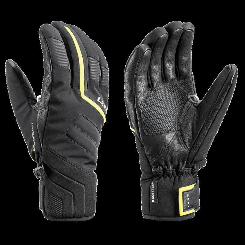 Levně Lyžařské rukavice LEKI Falcon 3D black/lime 8