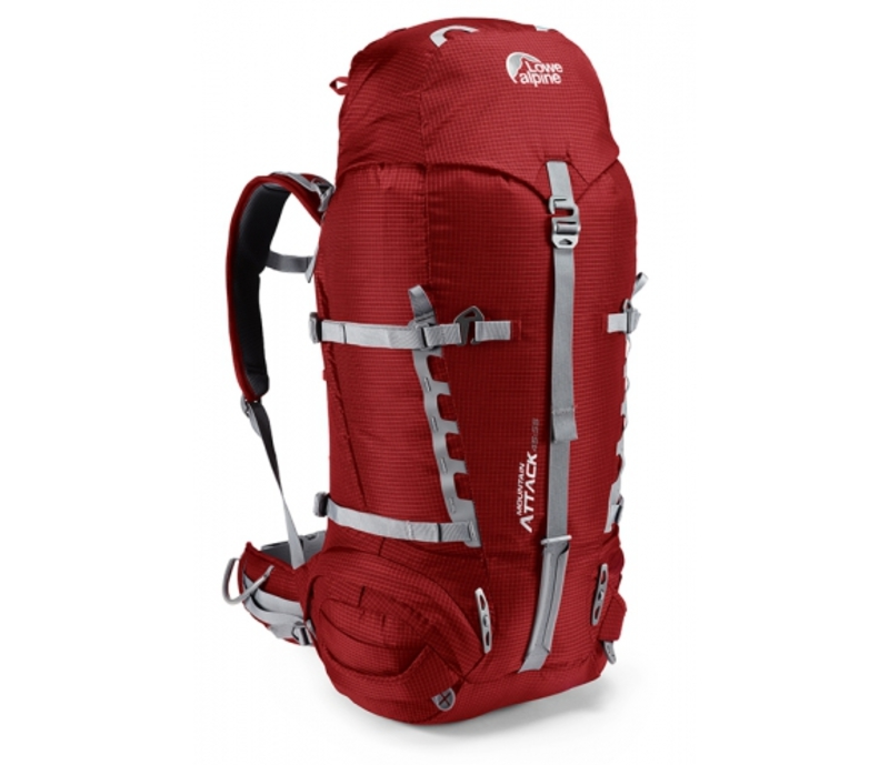Batoh Lowe alpine Mountain Attack 45:55 PRG pepper red/gunmetal