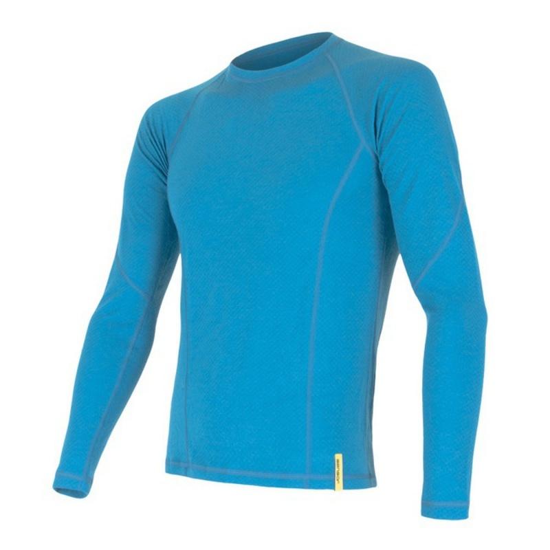 Pánské triko Sensor Double Face Merino Wool modré 15100022