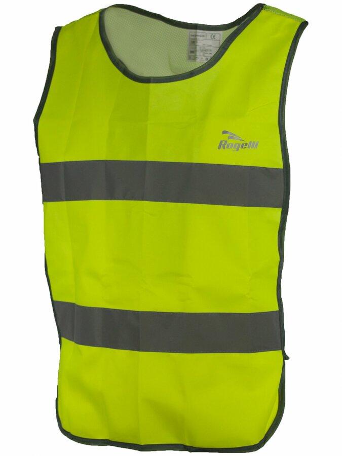 Bezpečnostní vesta s prodyšnými zády Rogelli MAPLETON reflexní žlutá 890.600