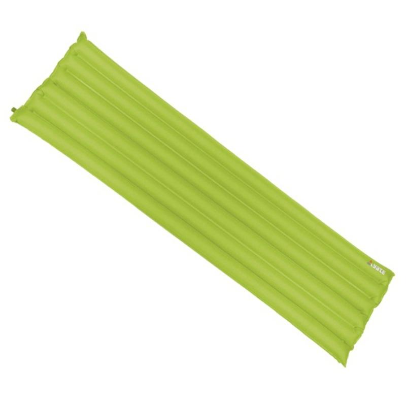 Nafukovací karimatka YATE - Buřtovka, 6 trubic zelená 183X50X7 CM
