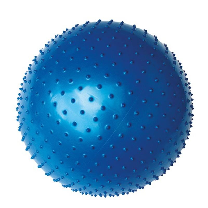 Gymnastický míč Yate Gymball - 65 cm s výstupky, modrá