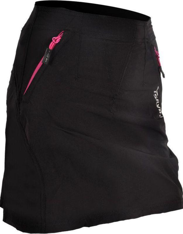Dámská cyklistická sukně Silvini INVIO WS859 black-purple