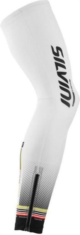 Cyklistické návleky na nohy Silvini TUBO-TEAM UA847 white