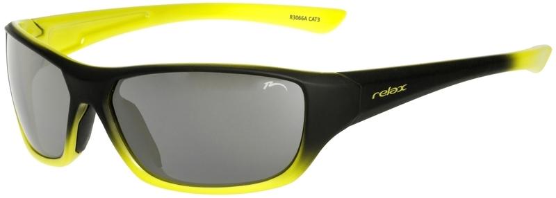 Dětské sluneční brýle RELAX Mona černo žluté R3066A