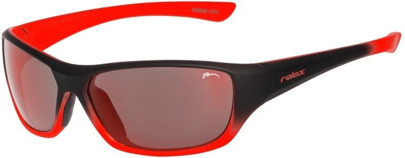 Dětské sluneční brýle RELAX Mona černo oranžové R3066B