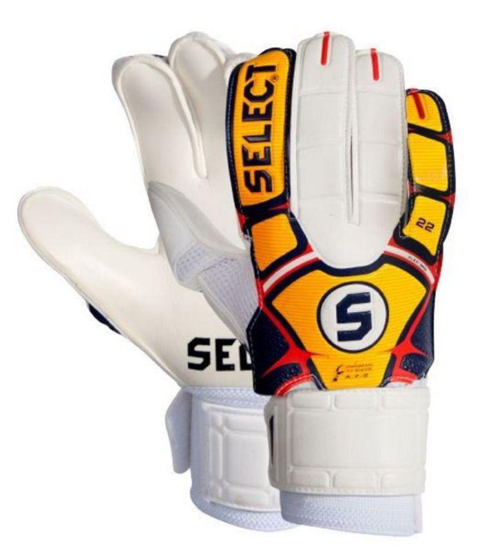 Brankářské rukavice Select 22 flexi grip bílá oranžová - GAMISPORT.cz e3aecc3ea2