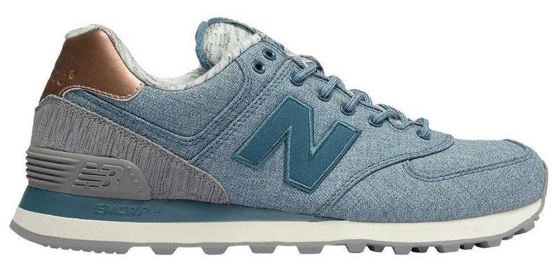 Dámské nízké tenisky New Balance WL574AEC šedá modrá