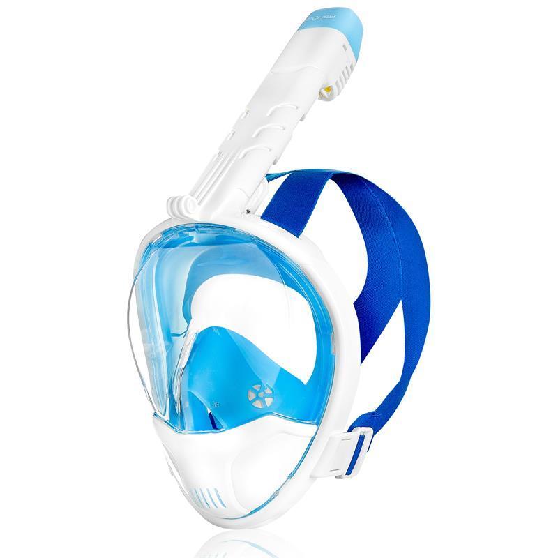 Celoobličejová maska Spokey KARWI BL/WT bílá