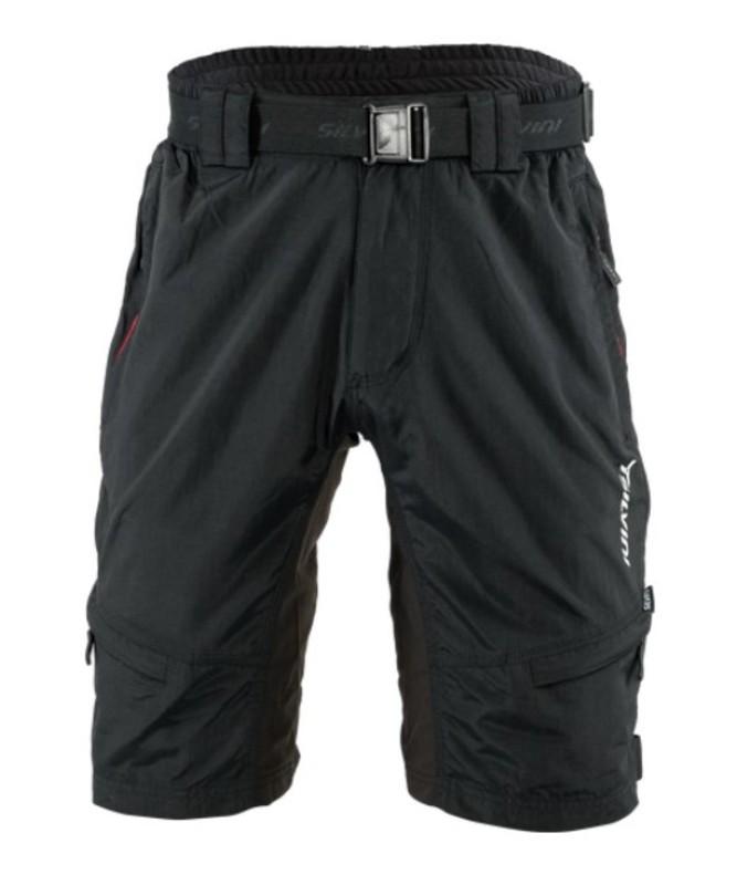 Pánské MTB cyklistické kalhoty Silvini Rango MP857 black-red