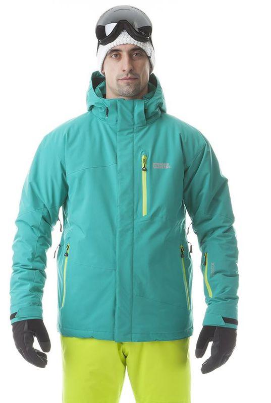 Pánská lyžařská bunda Nordblanc NBWJM5804 zelenkavá modrá
