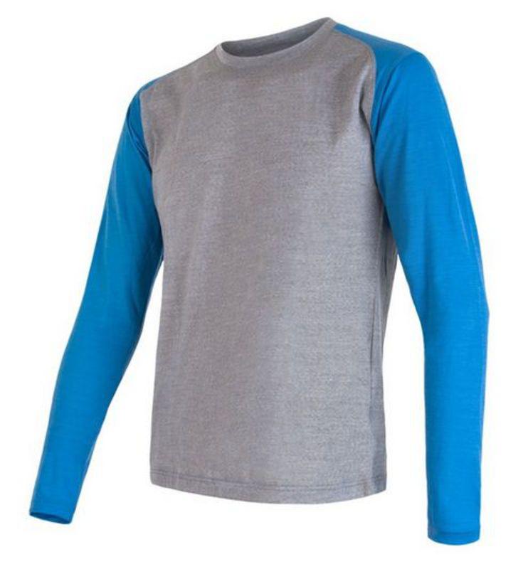 Pánské triko Sensor MERINO WOOL PT LOGO šedá/modrá 16200100