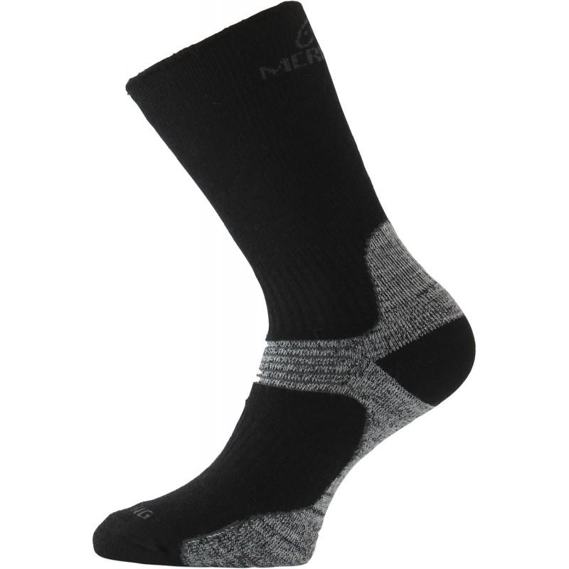 93bae887d6b Trekingové merino ponožky Lasting WSB 908 černá šedá - GAMISPORT.cz