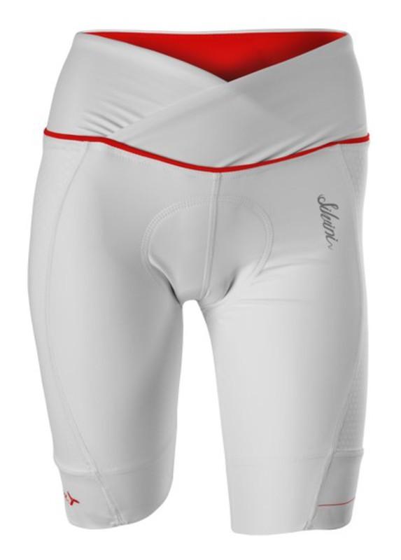 Dámské cyklistické kalhoty Silvini TINELLA WP1009 white-red
