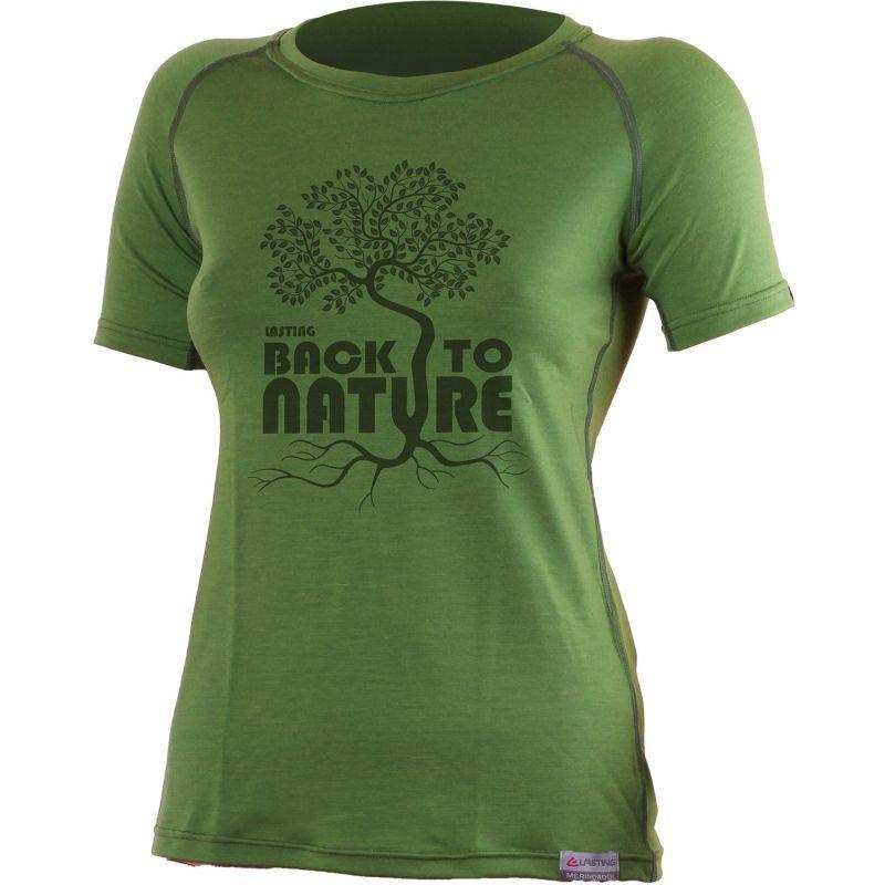 Merino triko Lasting BACK 6060 zelené vlněné