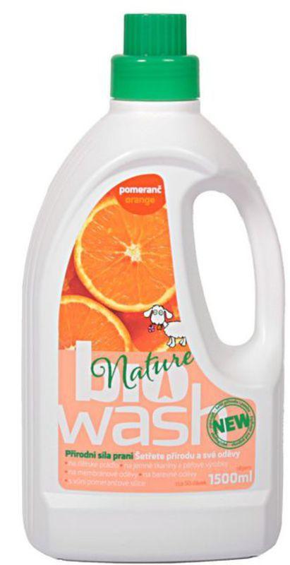 Biowash Gel z mýdlových ořechů s pomerančovou silicí 1,5 l