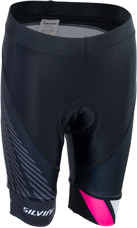 Dětské cyklistické kalhoty Silvini Team CP1436 black/pink