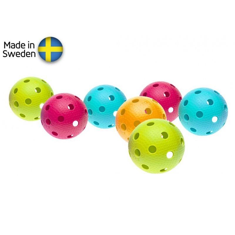 Sada florbalových míčků Salming Aero Ball 10-pack, colour mix