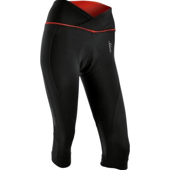 Dámské 3/4 cyklistické kalhoty Silvini TINELLA WP1010 black-red