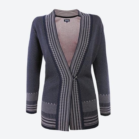 Pletený Merino cardigan svetr Kama 5030 108 S