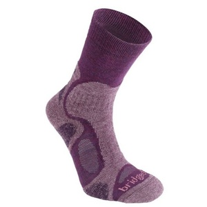 Ponožky Bridgedale CoolFusion TrailBlaze women's ML plum/350, bridgedale