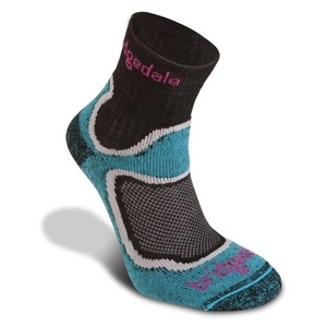 Ponožky Bridgedale CoolFusion Speed Trail Women's turquoise/413, bridgedale