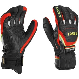Rukavice LEKI Worldcup Race Coach Flex S GTX black-red-white-yellow 634-80123, Leki
