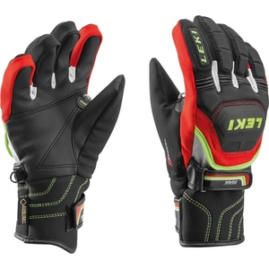 Rukavice LEKI Worldcup Race Coach Flex S GTX Junior black-red-white-yellow 634-80121, Leki