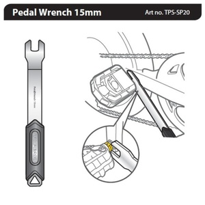 Klíč Topeak Pedal Wrench 15mm TPS-SP20, Topeak