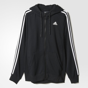 Mikina adidas Sport Essentials 3S Full Zip Hoodie Fleece AB7407, adidas