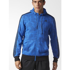 Mikina adidas Essentials 3-Stripes Allover Print Hoodie AY5434, adidas