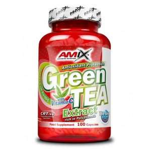 Amix Green TEA Extract with Vitamin C 100 kapslí, Amix